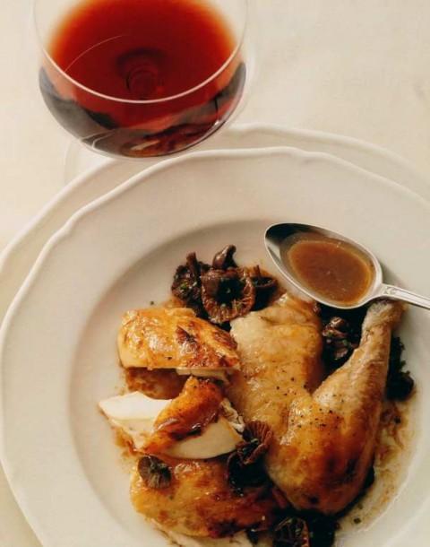 Vosne-romanée poulet de Bresse aux mousserons