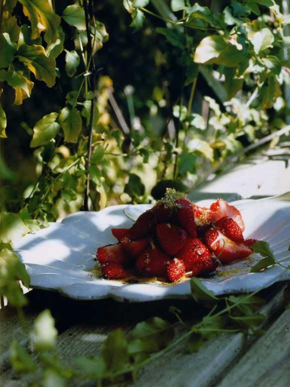 Duo de fraises à l'huile d'olive vanillée