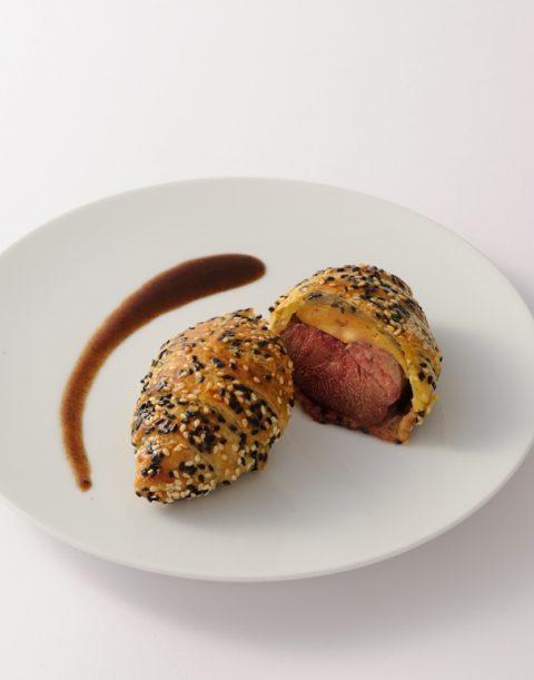 Pigeon foie gras en croute